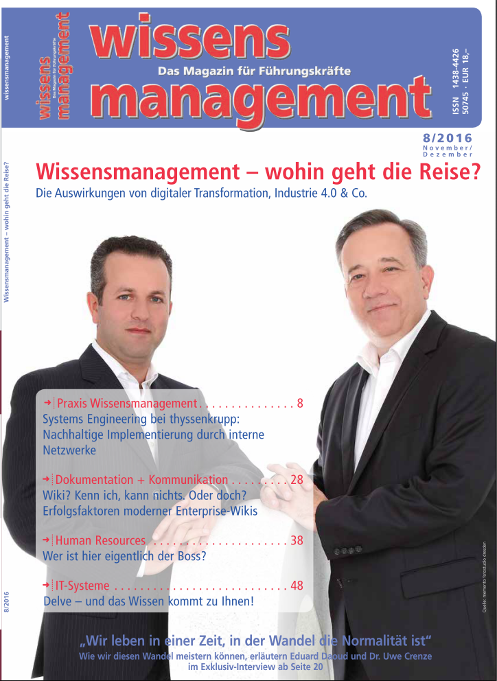 magazin wissensmanagement knowledge management