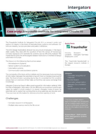Case Study: Fraunhofer Institute for Integrated Circuits