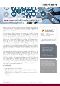 Case Study: Health Promotion Switzerland