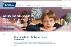 Startseite der Union Investment