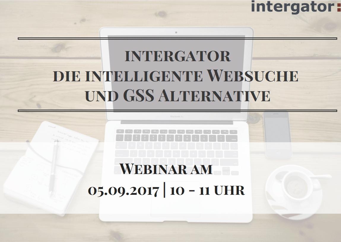 Intelligente Websuche mit intergator: Online Präsentation am 5.9.17