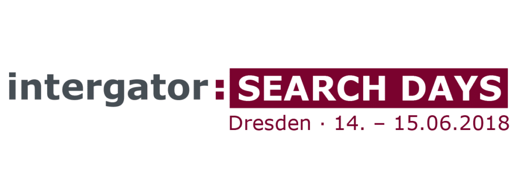 Logo der 8. intergator Search Days 2018