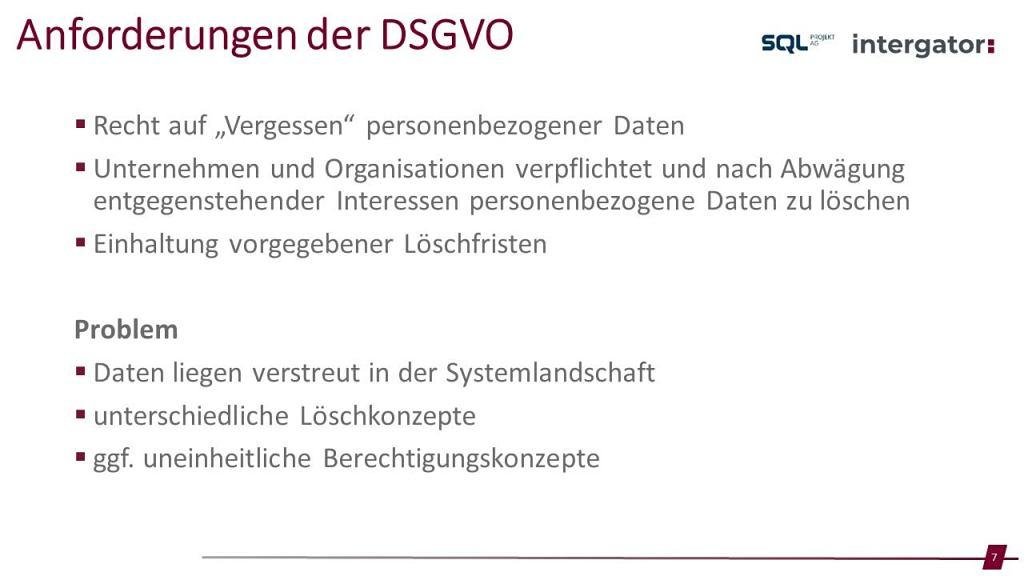 Webinar DSGVO