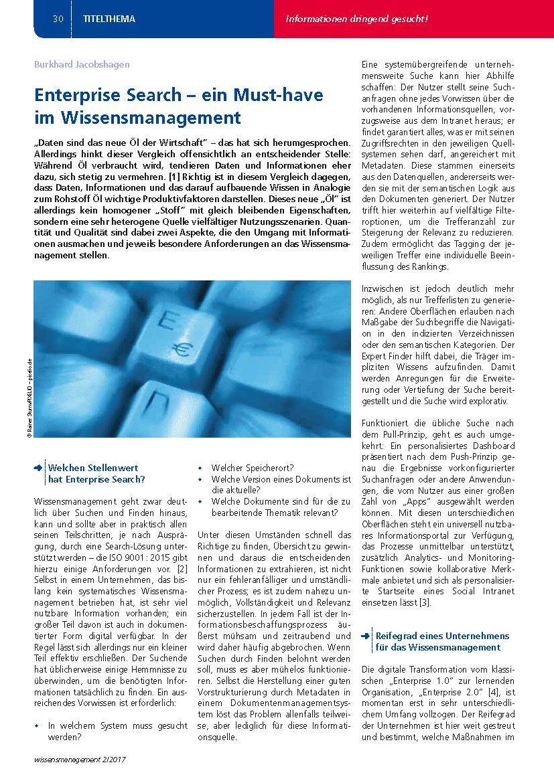 Whitepaper: Enterprise Search – ein Must-Have im Wissensmanagement