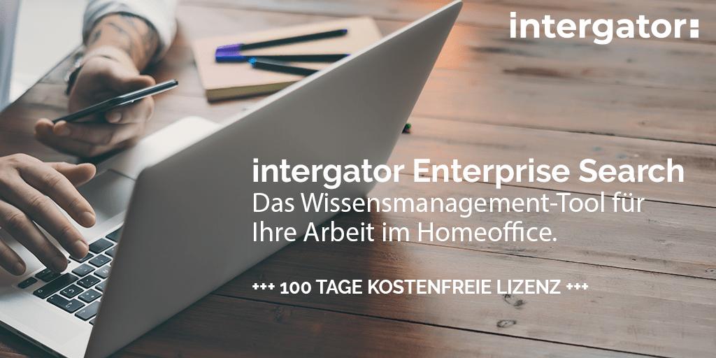 Webinar - intergator Enterprise Search - Das Wissensmanagement-Tool für Ihre Arbeit im Homeoffice