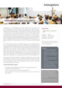Fallstudie: Hochschule Zittau/ Görlitz