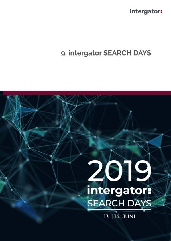 Tagungsbroschüre 9. intergator Search Days
